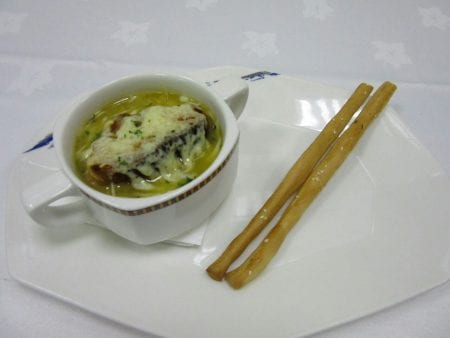 soup recipe/7 course French classical menu with wine