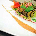 Grilled Eggplant french salad recipe