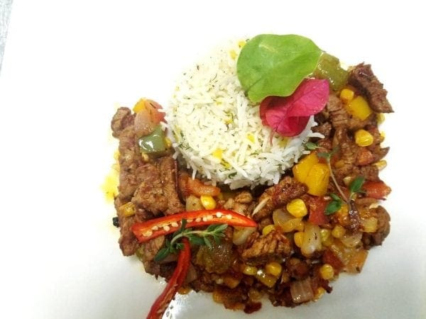 Mexican beef plating, food gallery