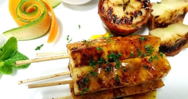 Grilled pineapple skewer