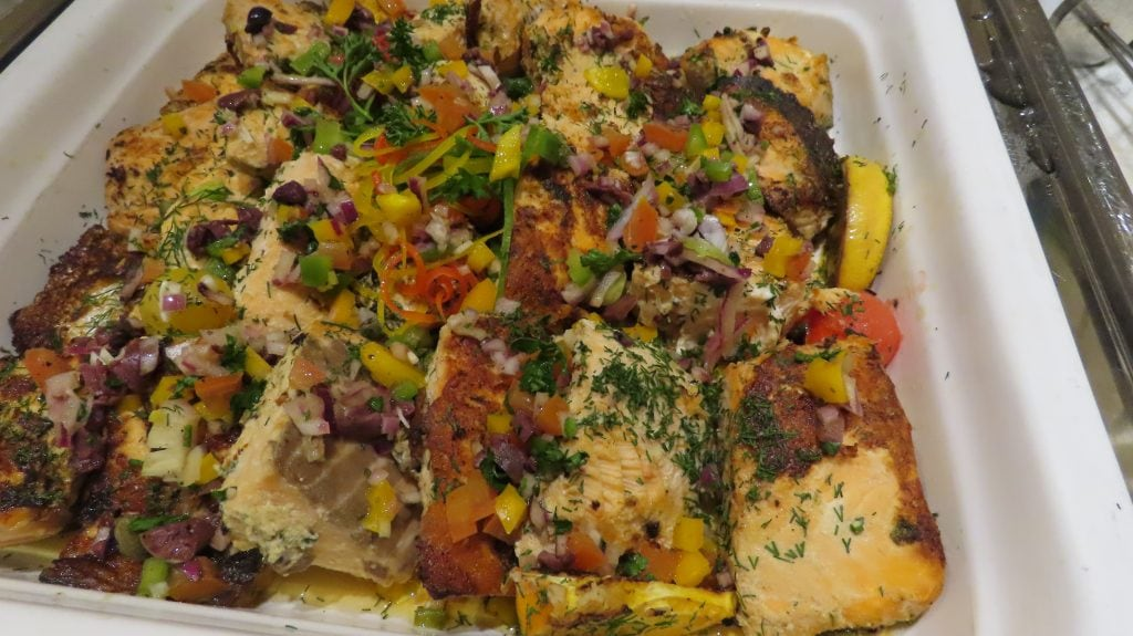 COOKED SALMON, east food to make at home