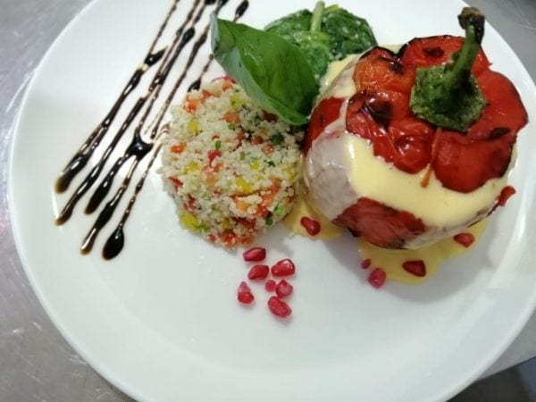 food gallery, stuffed bell pepper with couscous