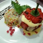 stuffed bell pepper with couscous