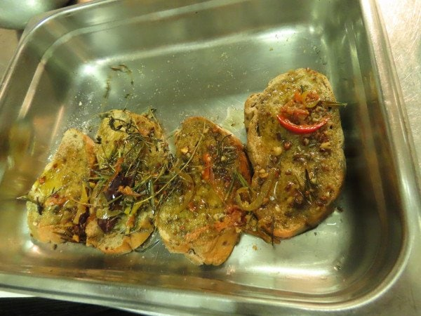 Dip with infuse rosemary oil