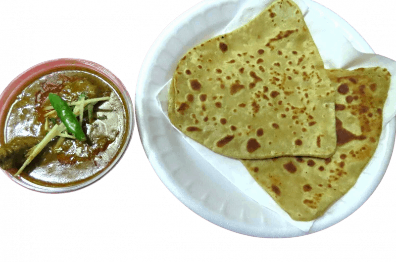 home style Paratha with chicken curry