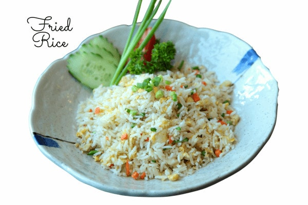 How to make simple vegetable fried rice