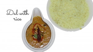 home style dal with rice