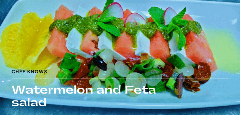 Feta and watermelon summer salad