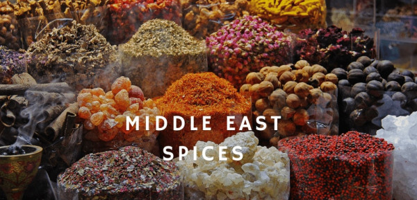 Middle east cuisine spices