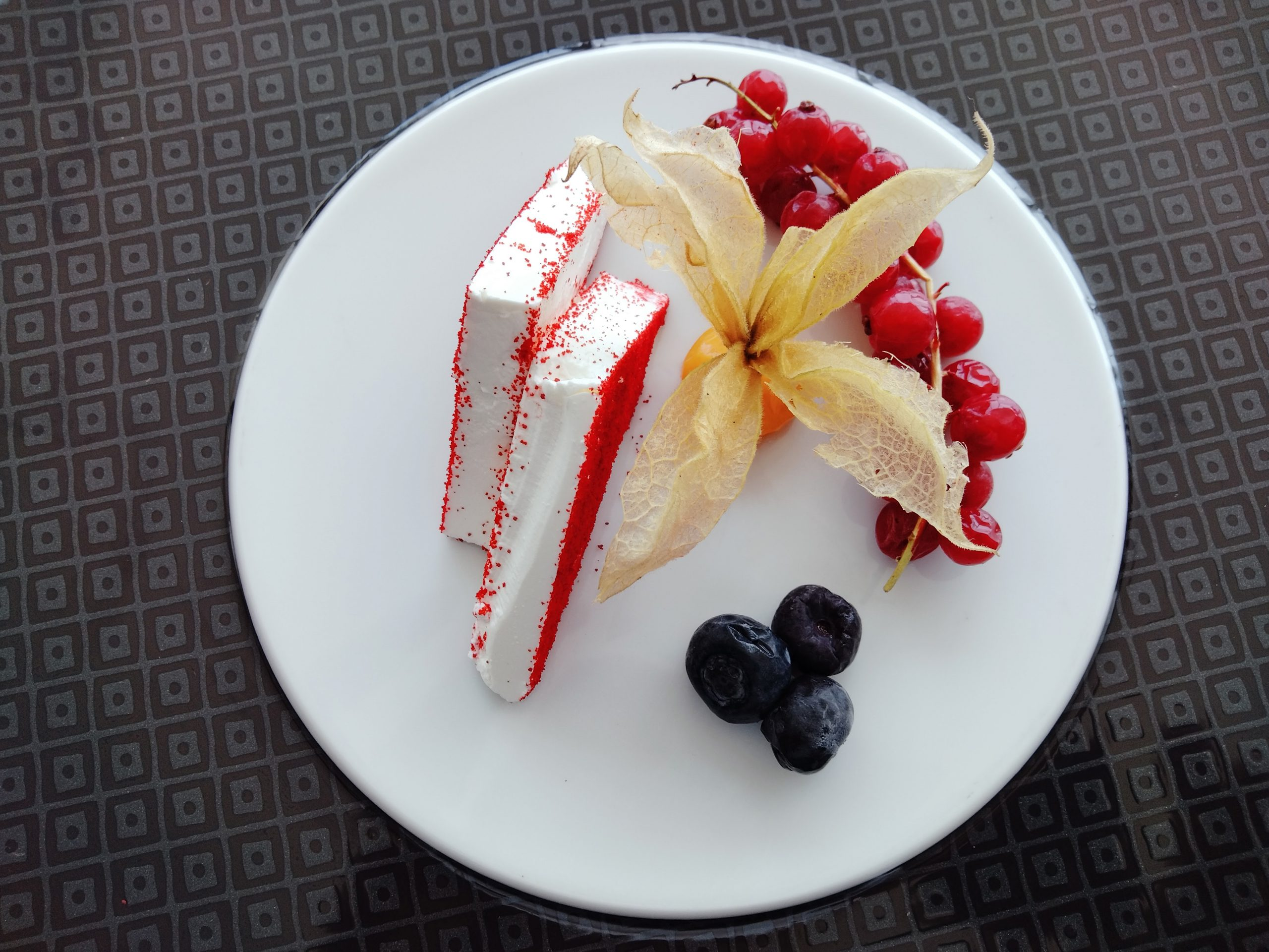 cheese with berries